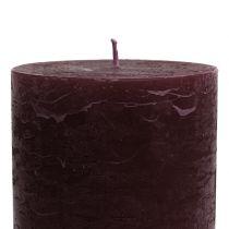 Durchgefärbte Kerzen Burgund 85x150mm 2St