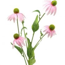 Echinacea Blüte künstlich Hellrosa 90cm