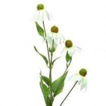 Echinacea Blüte künstlich Weiß 90cm
