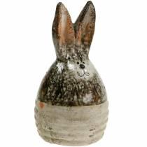 Ei-Hase Osterdeko Terrakotta H11,5cm