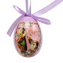 Eier mit Muster Lila-Rosa 5-8cm 8St