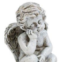 Engel sitzend Grau 11cm 4St