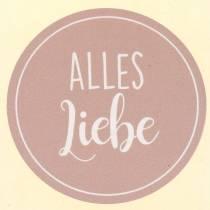 "Etiketten ""Alles Liebe"" Lila Ø3,5cm  500 St"