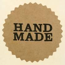 "Etiketten ""Handmade"" Natur Ø3,5cm 500St"