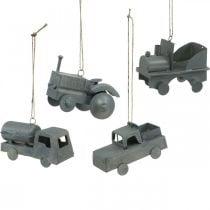 Fahrzeuge Metall zum Hängen Sortiert 9-10cm 4St
