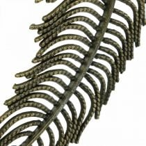 Deko-Federn, Schmuckanhänger, Federn aus Metall, Streudeko Bronzefarben L8cm 10St