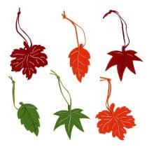 Filzblätter zum Hängen bunt 7,5-8cm 24St