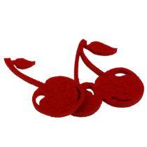 Filz Kirschen Rot 32St