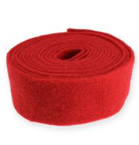Filzband Rot 7,5cm, 5m