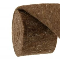 Filzband, Topfband Braun 15cm 5m