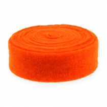 Filzband Orange 7,5cm 5m