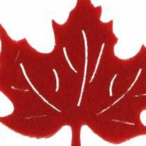 Streudeko Herbst Filzblätter Rot, Orange 3,5cm 36St