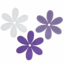 Filzblume Lila, Weiß Sortiert 4,5cm 54St