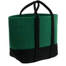 Filztasche Grün mit Muster 54cm x 35cm x 17cm