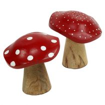 Fliegenpilz Mix 9cm -10,5cm Rot, Natur 8St