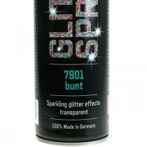 Glitter Spray zum Basteln Bunt Sprühlack Flitter 400ml