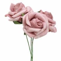 Foam-Rose Ø3,5cm Altrosa 48St
