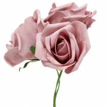 Foam-Rose Ø6cm Altrosa 27St