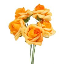 Foam Rose Ø 3,5cm Apricot 48St