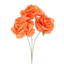 Foam-Rose Ø 6cm Orange 27St