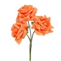 Foam-Rose Ø8cm Orange 18St