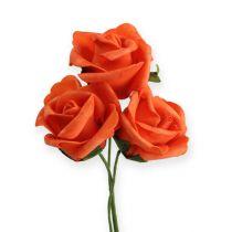 Foam-Rose Ø4,5cm Orange 36St