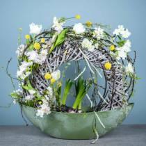 Frühlings-Dekoration Tulpen im Bund Weiß 26,5cm 5St