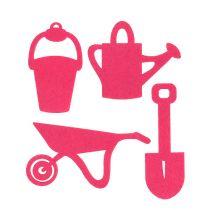 Gartengeräte Filz Pink 24St