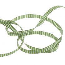 Geschenkband Karo Grün 8mm 20m