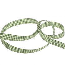 Geschenkband Karo Grün 15mm 20m