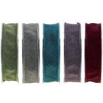 Geschenkband einfarbig matt 25mm 20m