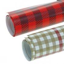 Geschenkpapier mit Seidenband und Anhängern 4 Bögen im Set 50×70cm