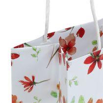 Geschenktüten mit Blüten 25cm x 20cm x 11cm 6St