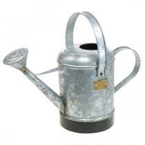 Deko Gießkanne Metall Pflanzkübel Blumenampel Antik Look 40×18×22cm