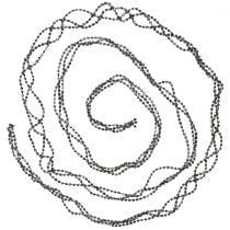 Weihnachtsdeko Perlengirlande Grau 275cm