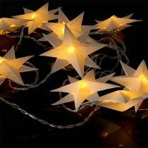 Girlande mit Papiersternen 12 Lichter Warmweiß 220cm