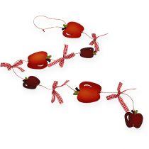 Äpfel-Girlande Rot 80cm 3St