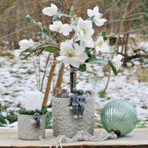 Glaskugel zum Hängen Blau Vintage Weihnachtsdeko Glas Ø15cm