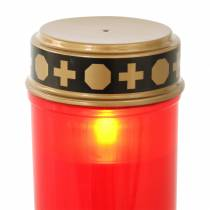LED Grablicht Rot, Warmweiß Timer Batteriebetrieben Ø6,8 H12,2cm
