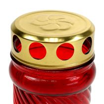 Grablicht Glas Rot Ø6cm H10,5cm 1Stück