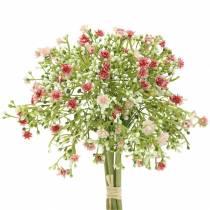 Gypsophila Schleierkraut künstlich im Bund Rosa H28cm 6St