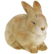 Hase aus Keramik Natur 8,5cm x 12cm 3St