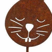 Hasenkopf Metallstecker Rost H52,5cm