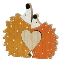 Herbstdeko Igelpaar mit Herz 15cm - 18cm