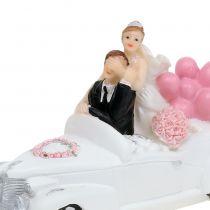 Hochzeitsfigur Brautpaar im Auto 16cm