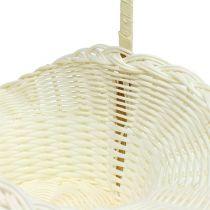 Hochzeitskörbchen Weiß Ø13,5cm H30cm