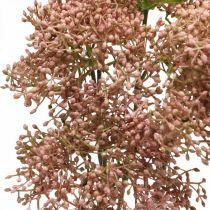 Holunder künstlich Rosa Blütenzweig 52cm 4St