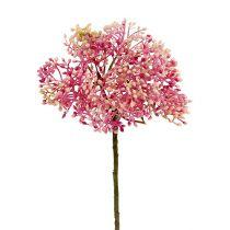 Holunderblütenzweig Rosa-Weiß L 55cm 4St
