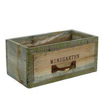 """Holz-Schublade """"Minigarten""""  22cm x 11,5cm H10cm"""