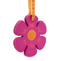 Holzhänger Blume Ø8cm bunt 12St